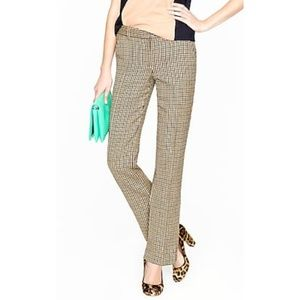 J. Crew Stovepipe trousers pants wool check 10